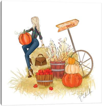 Fall Pumpkin Patch Canvas Art Print