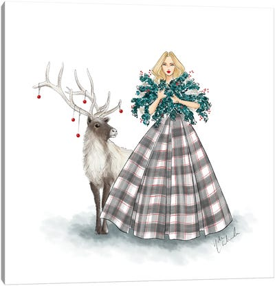 Holiday Plaid Dress Canvas Art Print