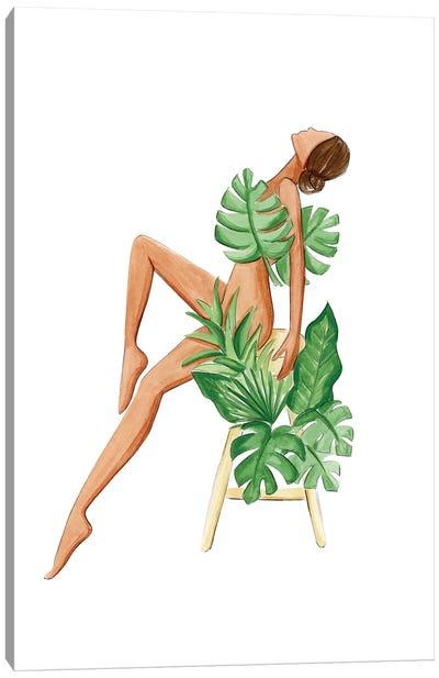 Lady Monstera Canvas Art Print