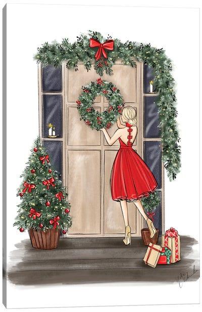 Front Porch Wreaths Canvas Art Print