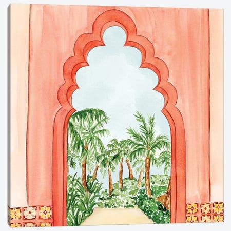 Palm Tree Oasis Canvas Print #NDN5} by Nadine de Almeida Canvas Print