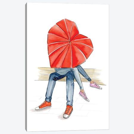 Under My Umbrella Canvas Print #NDN60} by Nadine de Almeida Canvas Print