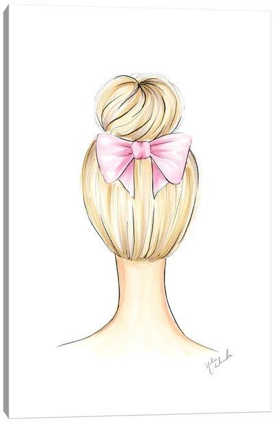 Ballerina Bun Canvas Art Print