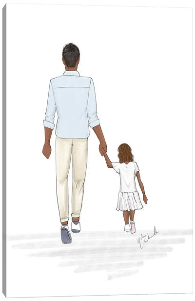 Father And Daughter Canvas Art Print