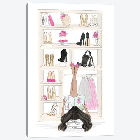 Fashion Closet Canvas Print #NDN73} by Nadine de Almeida Canvas Artwork