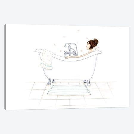 Bathtub Bubbles Canvas Print #NDN7} by Nadine de Almeida Canvas Print