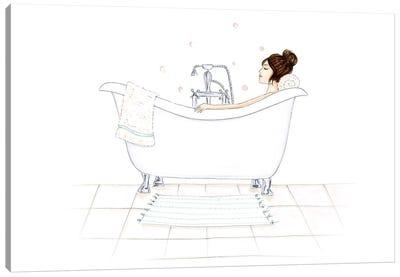 Bathtub Bubbles Canvas Art Print