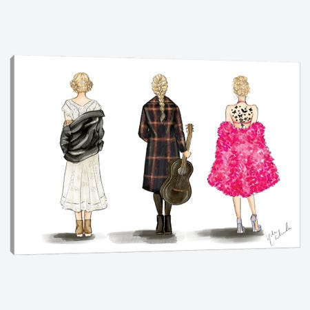 Dai Taylor Trio Canvas Print #NDN80} by Nadine de Almeida Art Print