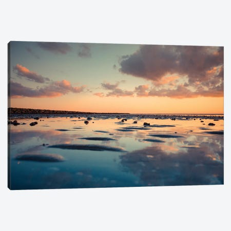 Blue Reflection Canvas Print #NDO5} by Orlando Canvas Wall Art