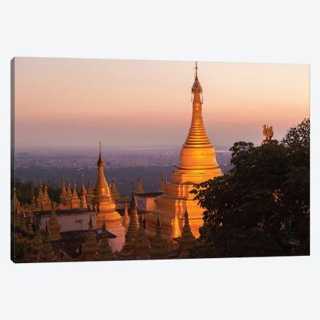 Mandalay Hill, Sutaungpyei Pagoda, Myanmar. Canvas Print #NDS2} by Michele Niles Canvas Wall Art