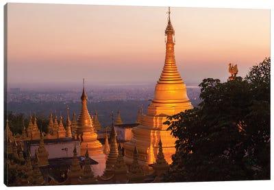 Mandalay Hill, Sutaungpyei Pagoda, Myanmar. Canvas Art Print