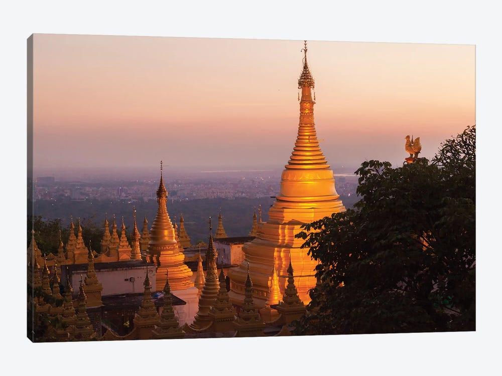 Mandalay Hill, Sutaungpyei Pagoda, Myanmar. by Michele Niles 1-piece Canvas Wall Art
