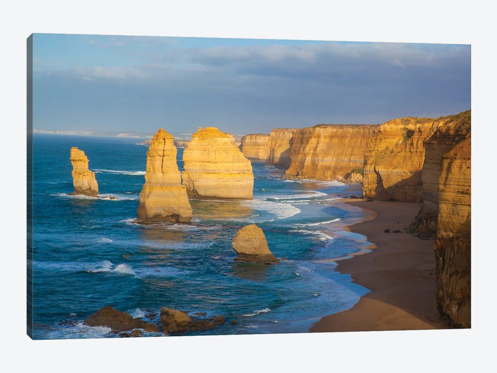 Twelve Apostles, Port Campbell National Park along the Great Ocean Road in Victoria, Australia. by Michele Niles 1-piece Canvas Art Print