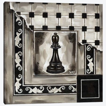 Chess II Canvas Print #NDY4} by Wendy Fields Canvas Art Print