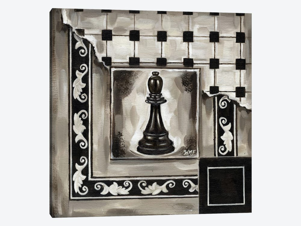 Chess II by Wendy Fields 1-piece Canvas Art