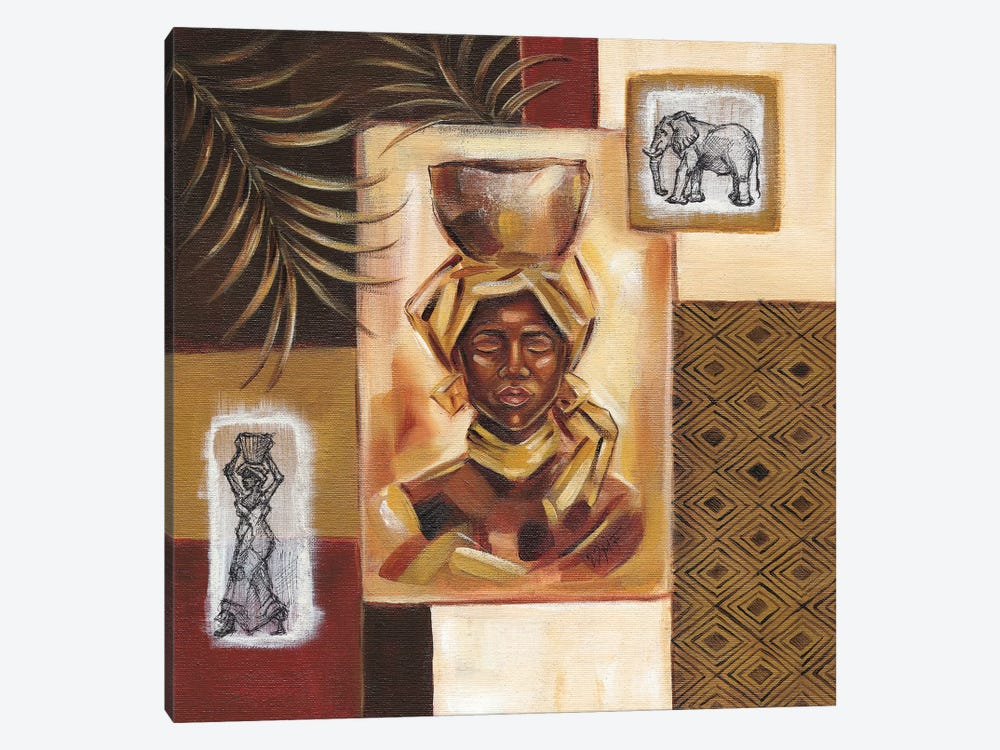 Out Of Africa I by Wendy Fields 1-piece Canvas Art Print