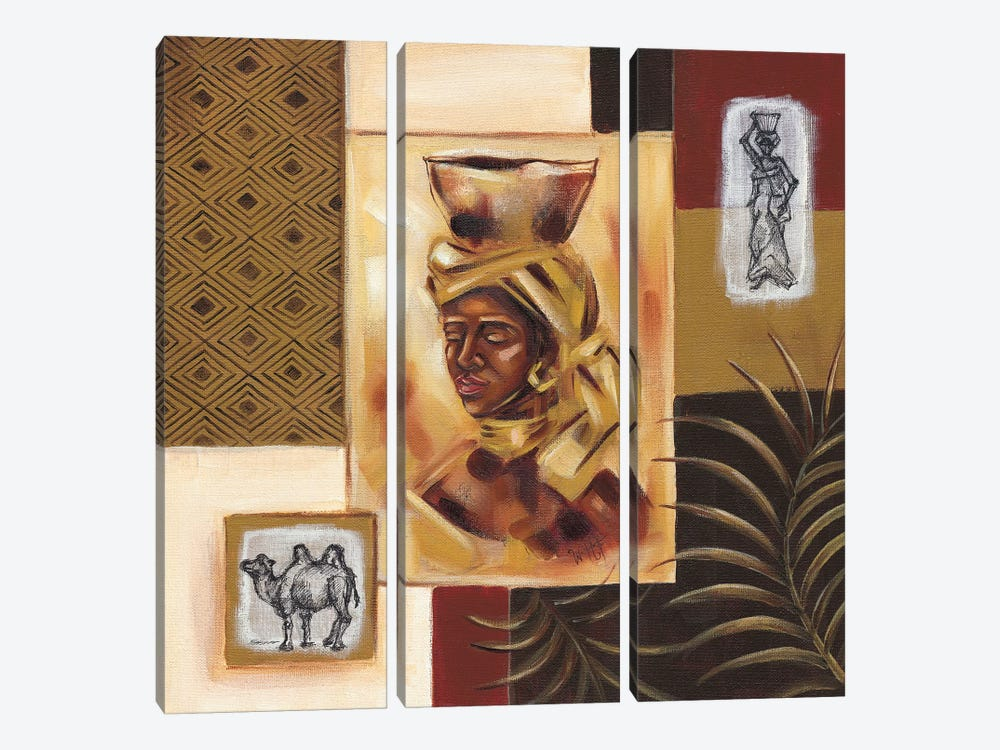 Out Of Africa II by Wendy Fields 3-piece Canvas Art