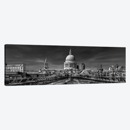 The Cathedral And The Millennium Bridge Canvas Print #NEA5} by Nader El Assy Canvas Print