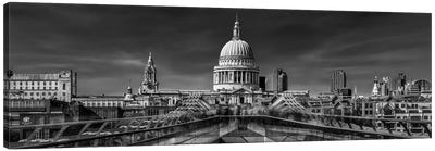 The Cathedral And The Millennium Bridge Canvas Art Print