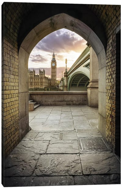 Westminster Tunnel Canvas Art Print