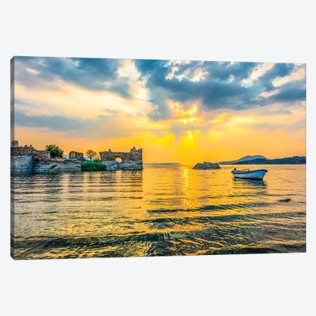 Lake Sunset I Canvas Print #NEJ104} by Nejdet Duzen Art Print