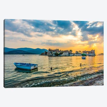 Lake Sunset II Canvas Print #NEJ105} by Nejdet Duzen Canvas Art Print
