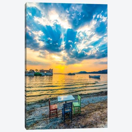 Lake Sunset III Canvas Print #NEJ106} by Nejdet Duzen Canvas Print
