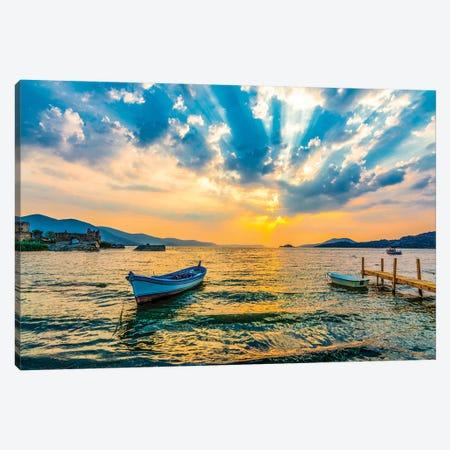 Lake Sunset IV Canvas Print #NEJ107} by Nejdet Duzen Canvas Art Print