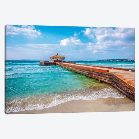 Beach Mood Canvas Print #NEJ114} by Nejdet Duzen Canvas Artwork