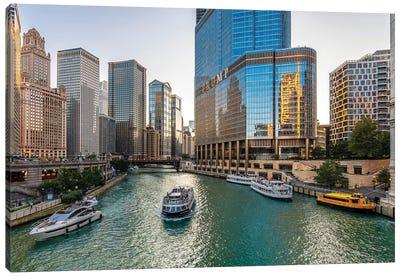 Chicago Riverside Canvas Art Print