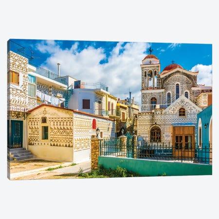 Pirgi Town Of Chios Island Canvas Print #NEJ153} by Nejdet Duzen Art Print