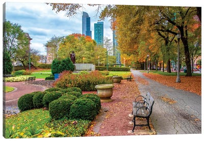 Autumn In Chicago Canvas Art Print