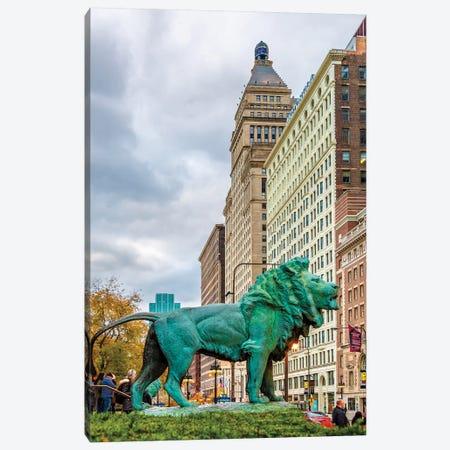 Lion Of Chicago Canvas Print #NEJ166} by Nejdet Duzen Canvas Art Print