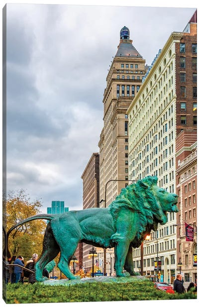 Lion Of Chicago Canvas Art Print