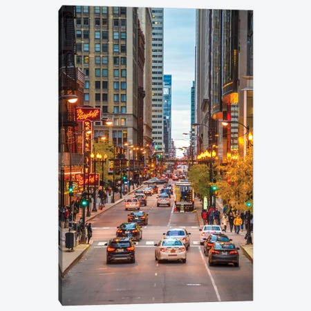 Traffic In Chicago Canvas Print #NEJ167} by Nejdet Duzen Art Print