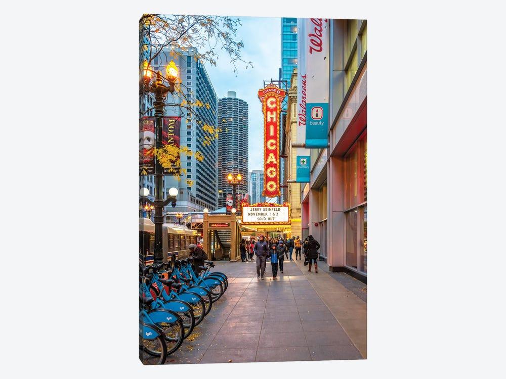 Chicago Theatre by Nejdet Duzen 1-piece Canvas Art Print