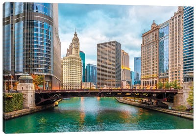 Colorful Chicago Canvas Art Print