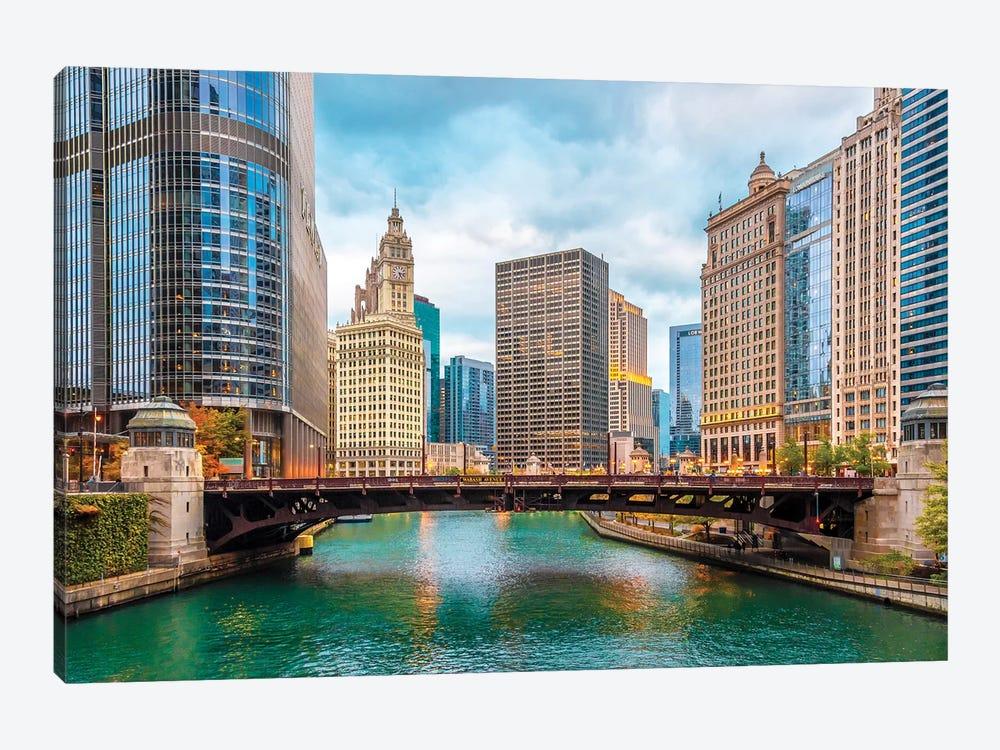 Colorful Chicago by Nejdet Duzen 1-piece Canvas Art