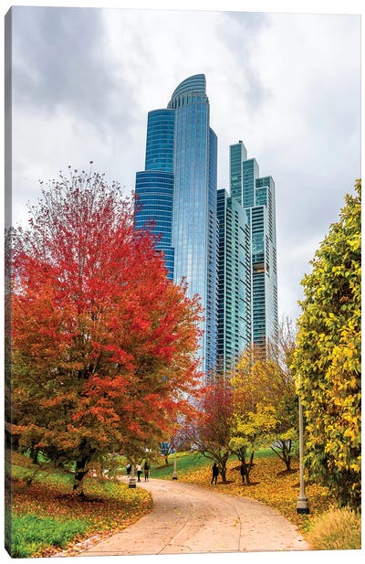Skyscrapers In Chicago Canvas Art Print