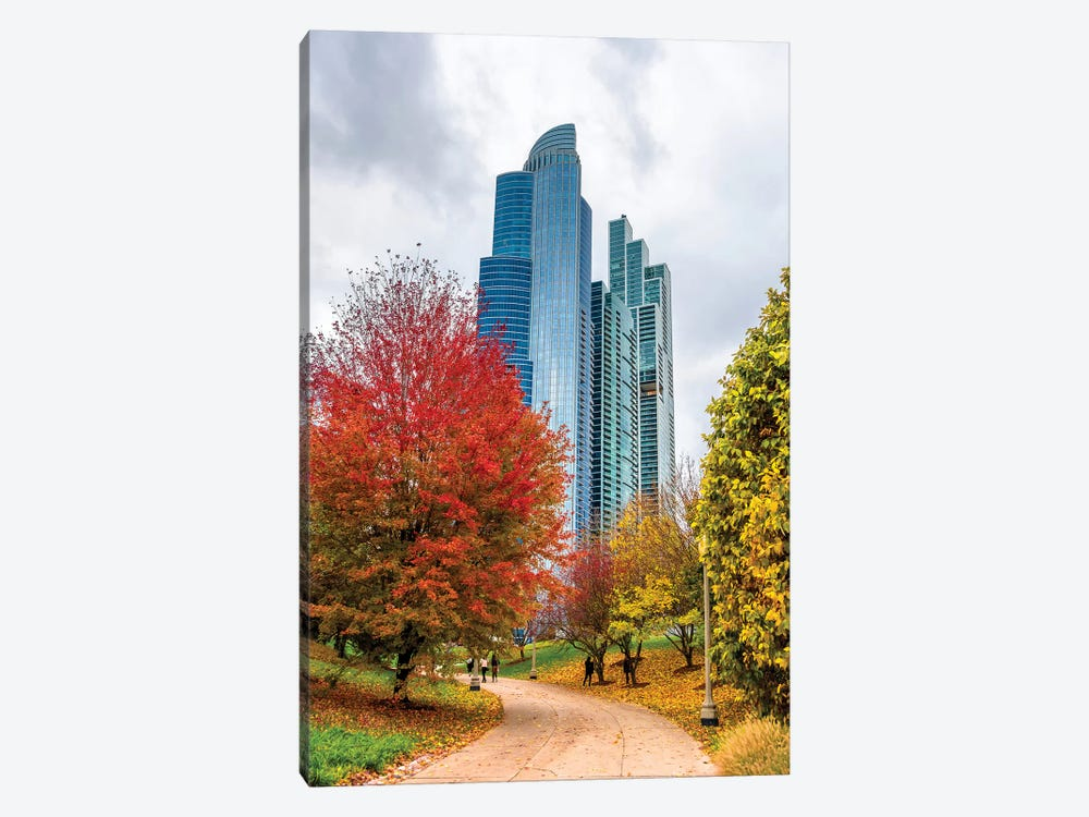 Skyscrapers In Chicago by Nejdet Duzen 1-piece Canvas Art