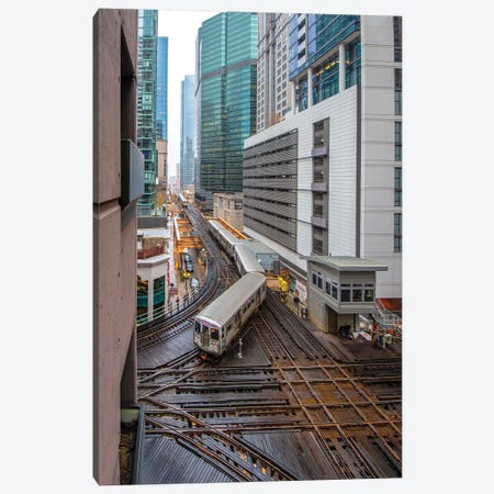 Chicago Loop II Canvas Print #NEJ188} by Nejdet Duzen Canvas Artwork