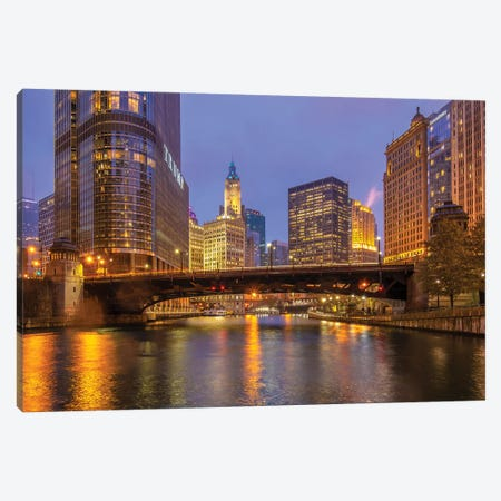 Riverside In Chicago Canvas Print #NEJ194} by Nejdet Duzen Canvas Wall Art