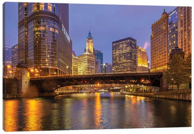 Riverside In Chicago Canvas Art Print