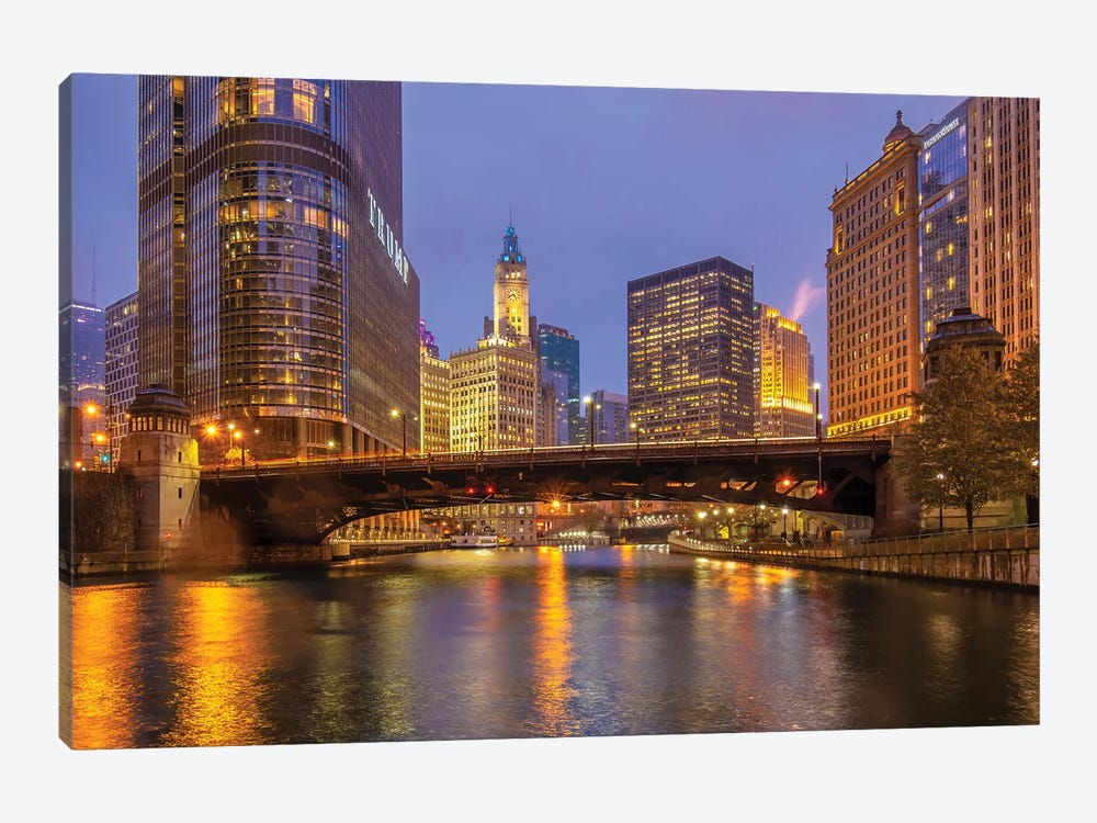 Riverside In Chicago by Nejdet Duzen 1-piece Canvas Wall Art