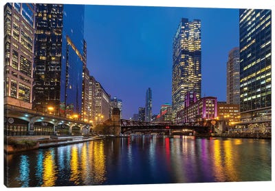 Chicago Night Canvas Art Print