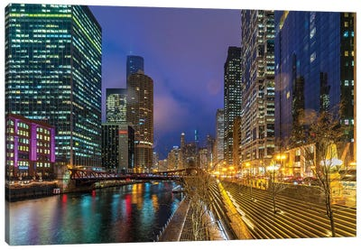 Chicago Lights Canvas Art Print