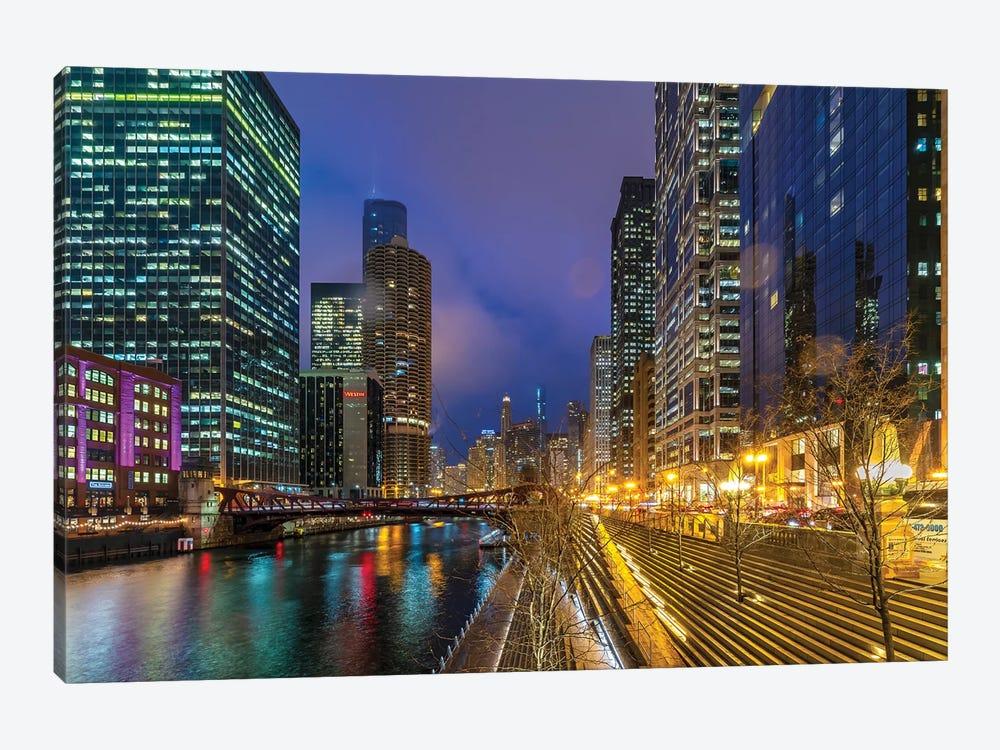 Chicago Lights by Nejdet Duzen 1-piece Canvas Artwork