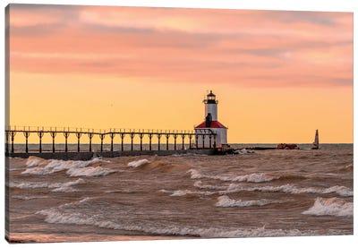 Michigan City Lighthouse V Canvas Art Print