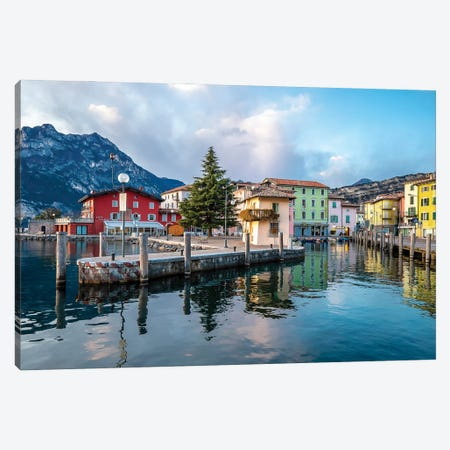 Torbole Harbour, Italy Canvas Print #NEJ226} by Nejdet Duzen Canvas Art