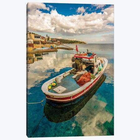Blue Reflections Canvas Print #NEJ230} by Nejdet Duzen Canvas Wall Art